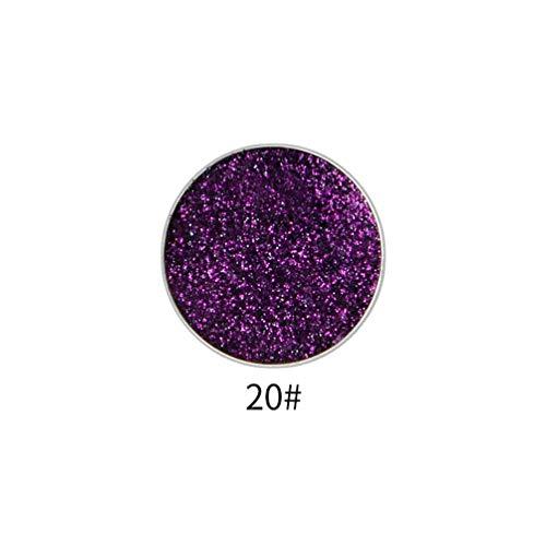 - Haluoo_Beauty Single Smoky Eyeshadow,Haluoo Shimmer Pearl Pressed Glitter High Pigmented Long Lasting Intensity Eye Shadow Metallic Eyeshadow Waterproof Eye Makeup Cosmetic (E)