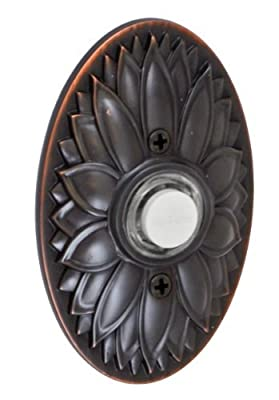 Fusion Hardware BEL-D9-ORB Designer Collection Oval Floral Doorbell, Oil Rubbed Bronze, by Fusion