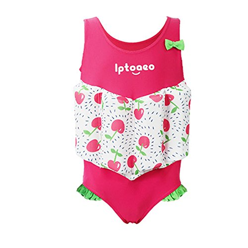 HnjPama Kid's Floatation Swimsuits Swim Vests Life Jackets & Vests with Adjustable Buoyancy for 2-8 Years Baby Girls-XXS