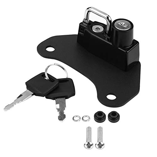 Acouto Alloy Helmet Lock, Motorcycle Helmet Lock Mount Hook Keys Locking Set for Scout/Sixty 2015-2018