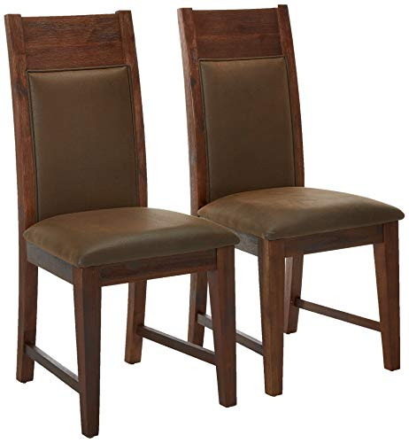 Alpine Furniture 8104-02 Pierre Dining Chair, Brown