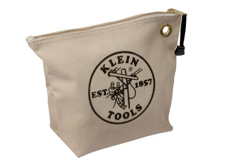 Canvas Zipper Bag- Consumables, Natural Klein Tools 5539NAT by Klein Tools