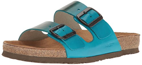 Naot Footwear Women's Santa Barbara-Hand Crafted, Teal Brown Leather, 42 (US Women's 11) M by Naot Footwear