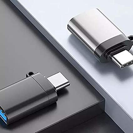 Jet Black Universal USB Type-C PortChanger USB Type-C OTG USB Portable Keychain for Smartphones and Tablets 2-Pack Cable BoxWave
