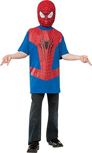 The Amazing Spider-man 2, Spider-man Costume Top and Mask, Child (Big Top Mask)