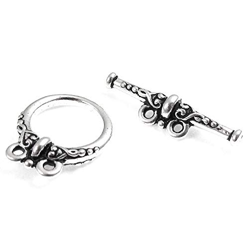 - TierraCast 2 Strand Pewter Toggle Clasps-SILVER HEIRLOOM (1)