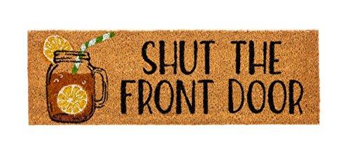 Evergreen Shut the Front Door Kensington Natural Coir Interc