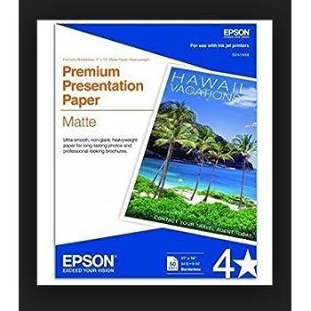 Amazon Com Epson Brochure And Flyer Paper Matte Double