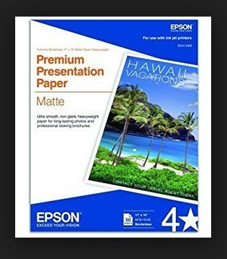 Epson Premium Presentation Paper MATTE (8.5x11 Inches, Double-sided, 50 Sheets) (S041568) (2, DESIGN 1) by Epson