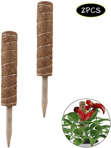 kgjsdf Kokosfaser-Totem-Stangen, 30 cm, Kokosfaser, Moosstock, für Pflanzenunterstützung, Kletterpflanzen, 2 Stück