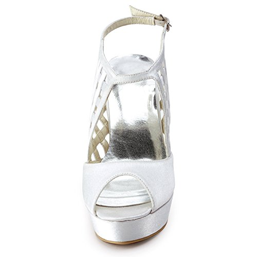 Minitoo , Damen Pumps White-12cm Heel