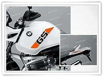 Black Doves Graphics 2pcs Aufkleber R1200 kompatibel f/ür Motorrad BMW R1200GS R 1200 GS Adventure Orange