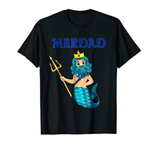 (Mens Mermaid Daddy Shirt Halloween Costume Large)
