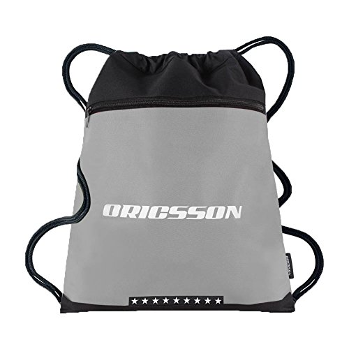 ORICSSON Promotional 16L Nylon Drawstring Backpack Gymsack Bag for Hiking, Camping, Running,Gray (Promotional Van)