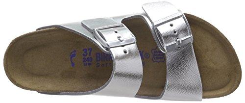 Birkenstock Arizona Narrow Fit - Liquid Silver Leather 1000062 Womens Sandals 37 EU by Birkenstock (Image #7)