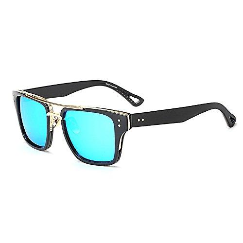 sol Unisex Gafas montura de hombre lente Day con Cuadrado para Gafas Wear Azul Hombres Vision mujer Wayfarer gradiente negro estuche Eye de de lente diseño para Bwwp5T1tq
