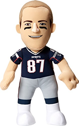 Nfl New England Patriots Rob Gronkowski Player Plush Doll  6 5 Inch X 3 5 Inch X 10 Inch  Blue