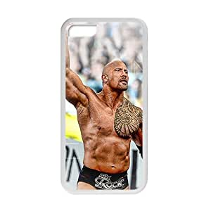 RHGGB WWE World Wrestling The Rock White Phone Case for Iphone 5c