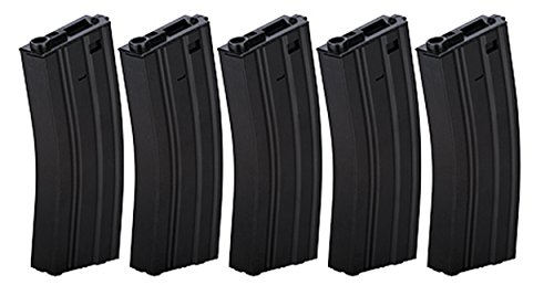 (Box of 5 - Gen2 LT-01B Metal M4/M16 300 Round Hi-Cap AEG Airsoft Magazine)