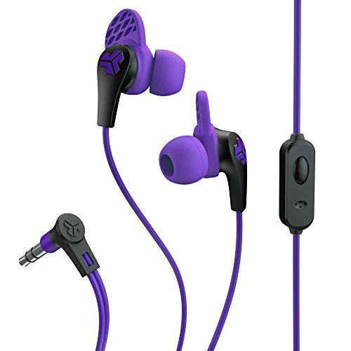 JLab Audio JBudsPRO Premium in-ear Earbuds with Mic, Guaranteed Fit, GUARANTEED FOR LIFE  - Purple