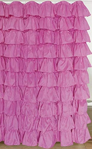 Image Unavailable Not Available For Color Flamenco Ruffle Shower Curtain Light Pink