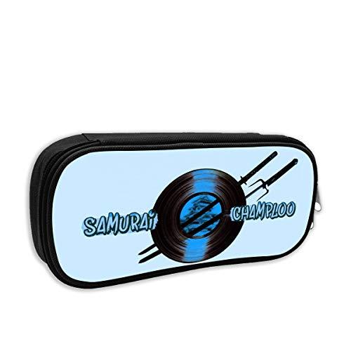 HSUASAI Samurai Champloo Pencil Case Pen Bag Pouch Stationary Case for School Work Office