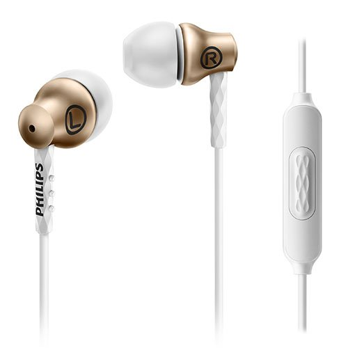Philips SHE8105GD/27 In-Ear Headphones with Mic, Gold