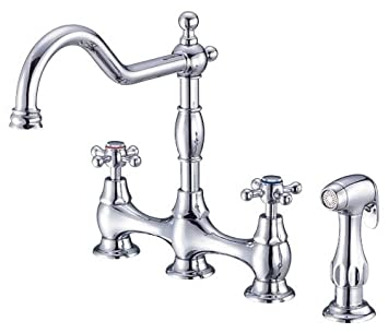 Danze D404557 Opulence Two Handle Kitchen Faucet With Side Spray