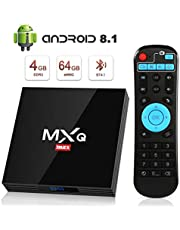 Android 8.1 TV Box [4GB RAM+64GB ROM], Superpow Android Box TV 4K, USB 3.0, BT 4.1, UHD H.265, HDMI, Smart TV Box Quad Core WiFi Media Player, Box TV Android