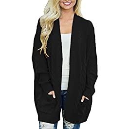 Women's Long Sleeve Cardigan Sweater with Pocket