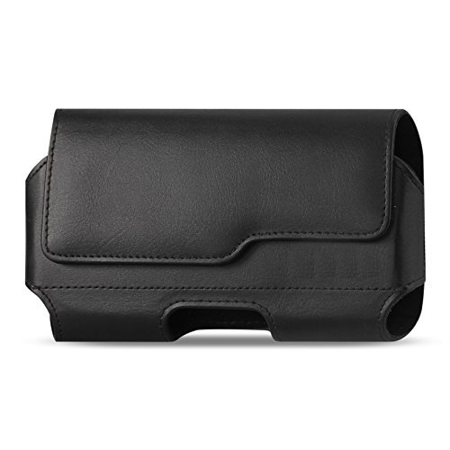 Case Pouch Holster (iPhone 8 iPhone 6S 7 Belt Case with Clip, Apple iPhone 8 Leather Belt Clip Case Holster Pouch Sleeve Flip Cover Cell Phone Holder (For iPhone 7 iPhone 8 with Otterbox Lifeproof Battery Case))