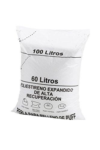 Textilhome – Puff Remplissage (Perles) 100 litres -Grand récupération Polystyrène et Grand Volume.