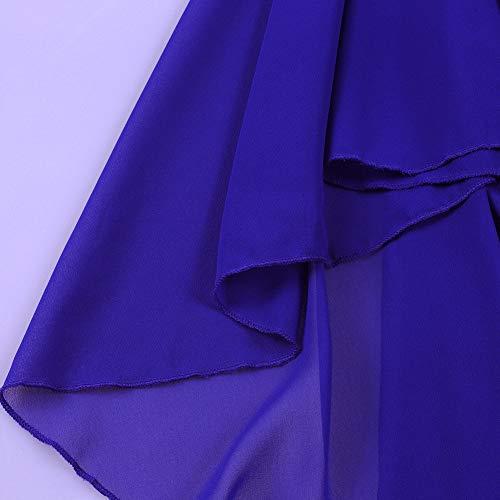 Blu S Balza xxxl Donne Vestito Chiffon Formato Più Di Lalagen Matita Aderente Lusinghiero Delle Manica Mantello Partito SfHqa