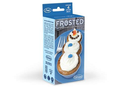 For Delicious Snowbound Treats Frosted Snowman Cupcakes
