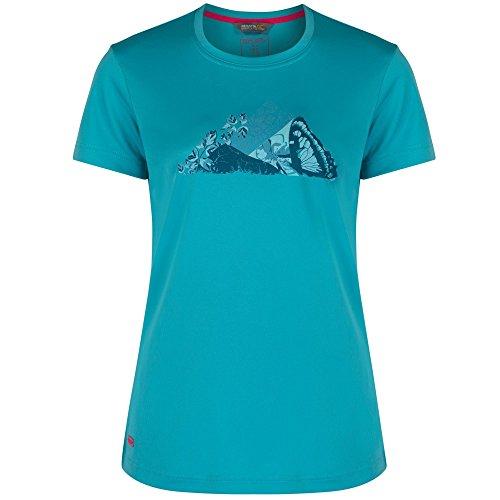 Regatta Great Outdoors - Camiseta de manga corta modelo Fingal II para mujer Atlantis