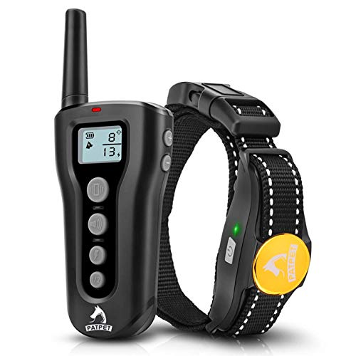 PATPET Dog Training Collar with Remote Rechargeable Waterproof Shock Collar for Dogs 3 Training Modes, Beep Vibration…