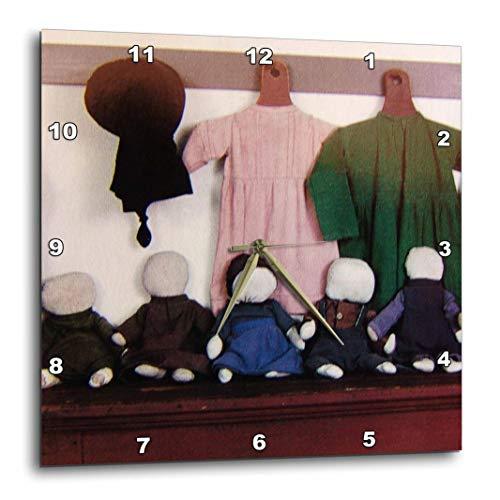 (3dRose DPP_21492_1 Amish Wear Wall Clock, 10 by 10-Inch)