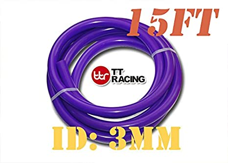 3mm 1//8 0.12 Silicone Vacuum Tube Hose Silicone Tubing 15ft 4.5 Metre 4.5m Pink