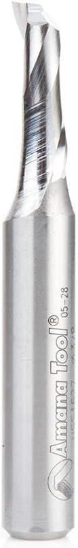 Amana Tool HSS1627 HSS Spiral Aluminum Cutting Single Flute Up-Cut 3//8 D x 1 CH x 1//2 SHK 3-1//2 Inch Long Router Bit
