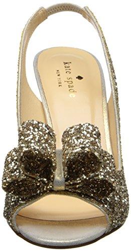 Kate Spade New York Women's Charm Slingback Pump Platinum/Glitter/Gold Liquid QooKag9R
