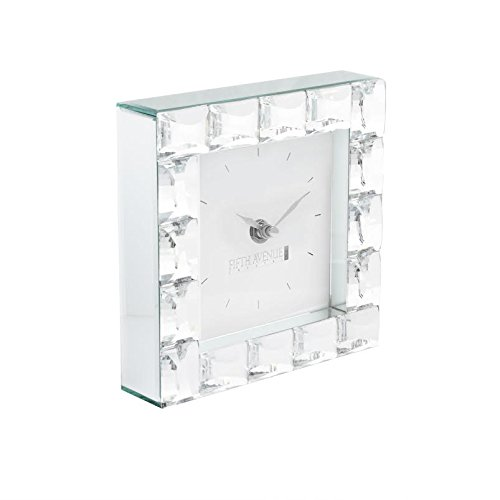 Fifth Avenue Crystal Clear Jewel Square Clock