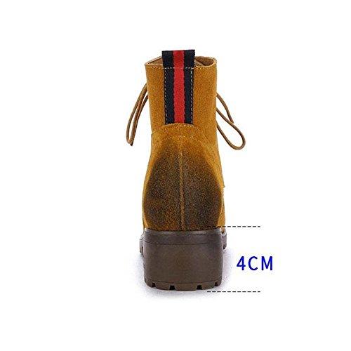 Bottines Automne Et Hiver Retro Boots Chaussures Grande Taille, 40