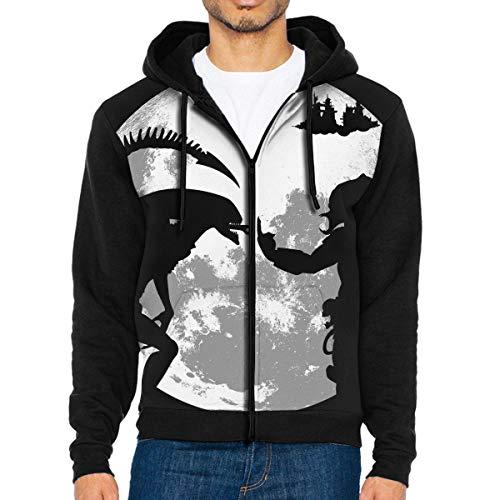 MG5dYkdi56 Full-Zip Men's Hooded Sweatshirt Alien Vs Predator Hoodie Sweaters Pullover Hoody Fashion Jacket for Men and Women Black
