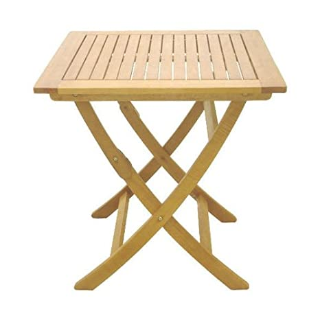 table de jardin pliante en bois 80 x 80 cm: Amazon.fr: Jardin