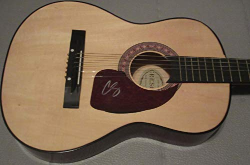 Chris Stapleton Autographed Full Size Natural Acoustic Guitar W/PROOF, Picture of Chris Signing For Us, Country Music, Guitar, Music, Country Music Awards, Tennessee Whiskey, Traveller