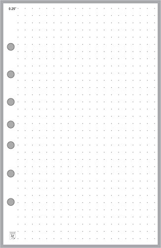 Classic Size Dot Grid Paper Refill, 0.25