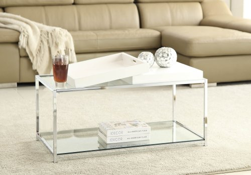 Amazon.com: Convenience Concepts Palm Beach Coffee Table, White: Kitchen U0026  Dining