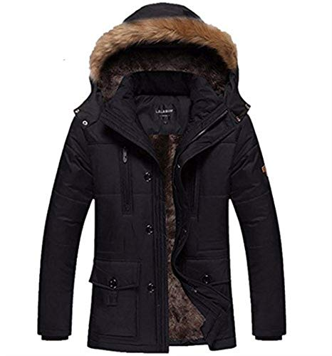 Jacket Coat Apparel Warm Outerwear Coat Pockets Jackets with Lapel Hooded Long Zipper Sleeve Front Men's Jacket Khaki x7XwHq66