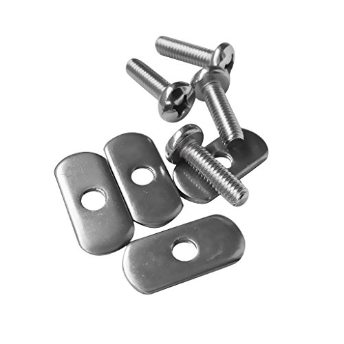 Jili Online Durable 4 Sets Steel Screws and Nuts for Kayak Track/ Rail Mounting Systems