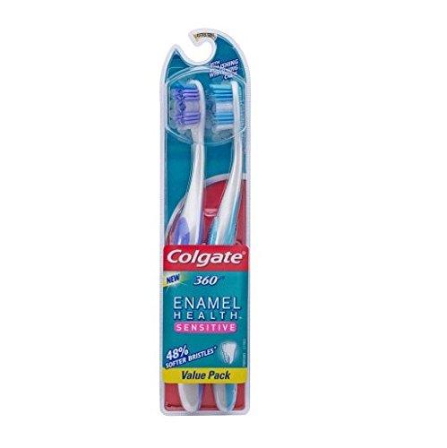Colgate Enamel Health Sensitive Toothbrush, Extra Soft , 2 c